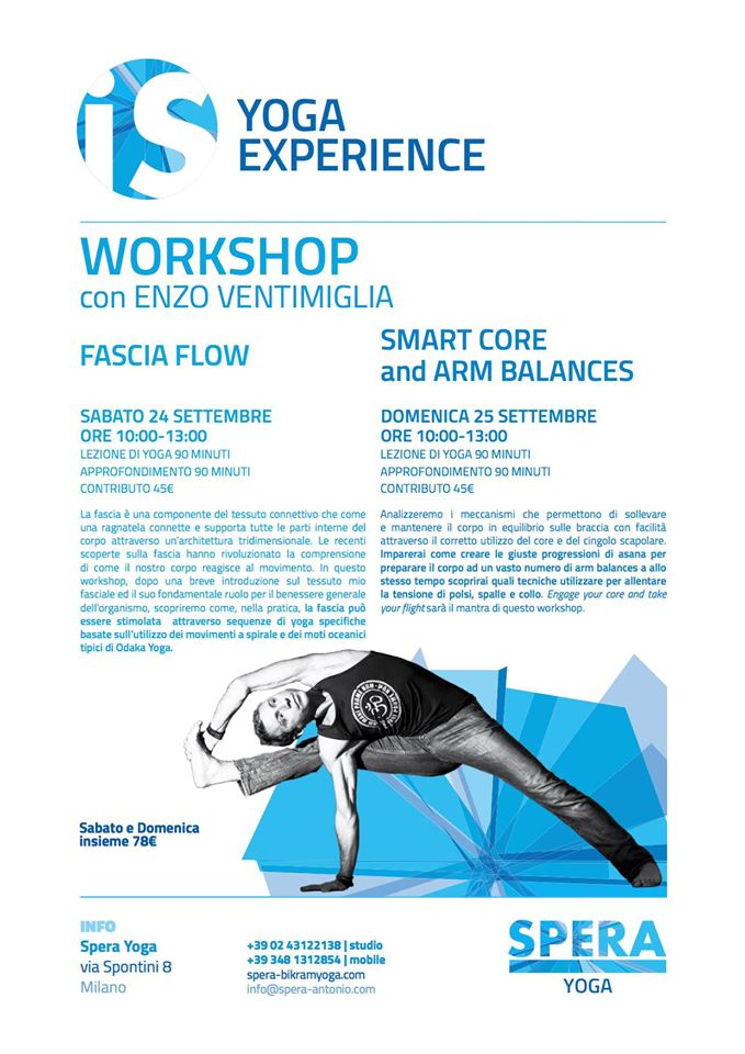 Workshop di yoga a Milano