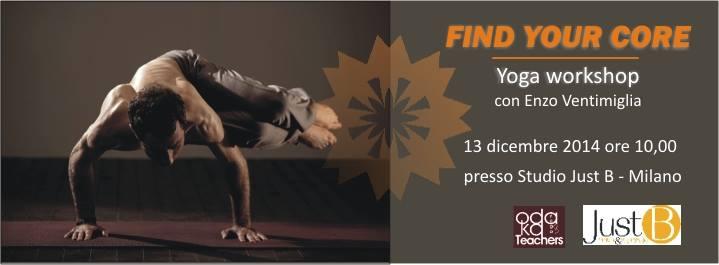 Workshop di Yoga con Enzo Ventimiglia