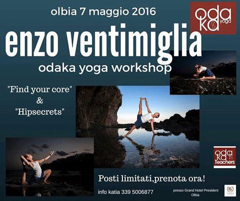 I prossimi workshop di yoga ad Olbia con Enzo Ventimiglia